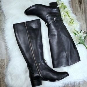 MICHAEL KORS Leather Knee High Riding Boots :1095